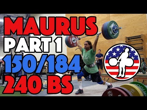 Harrison Maurus Part 1/11 Pre 2017 WWC Training 150/184 + 240x3 BS [4k60]