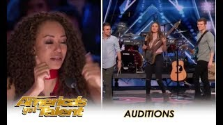 Video We Three Music: Sibling Trio TEARFUL Tribute To Their Late Mom  | America's Got Talent 2018 MP3, 3GP, MP4, WEBM, AVI, FLV Juni 2018