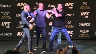 Awantura na prezentacji przed walką McGregor vs Diaz