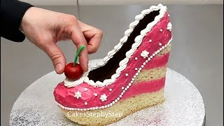"""Hi! Today I bring you a compilation with some of my shoe cakes from my channel. The first shoe cake from this video is inspired from """"Shoe Bakery"""". Enjoy watching!More videos from Cakes StepbyStep channel:MAKE UP Cosmetics Box Cake  *Pastel Caja De Maquillaje by Cakes StepbyStephttps://youtu.be/fdm_2z7wznoFashion TIFFANY Cupcakes Cake Toppers How To Make by Cakes StepbyStephttps://youtu.be/9_vLfFwASmkMakeup Cupcakes- Cake Toppers/Cupcakes de Maquillaje!https://youtu.be/RzXm0Xfju4sTiffany Gift Box Pearls and Diamonds Cake by CakesStepbyStephttps://youtu.be/KB1E-xA8RyA*To stay up to date with my latest videos, make sure to SUBSCRIBE to this YouTube channel (if you are not).*To find out more about the items I use, please visit: http://www.cakesstepbystep.com/*You can support this channel by sharing my videos. Thank you!*****************FOLLOW ME********************FACEBOOK     https://www.facebook.com/cakesstepbystep/*INSTAGRAM  http://instagram.com/cakesstepbystep/*PINTEREST    http://www.pinterest.com/cakesstepbystep/*TWITTER        https://twitter.com/CakesStepByStep/CakesStepbyStep is about cakes and cupcakes decorating with fondant and buttercream frosting. Also you can watch simple chocolate decoration techniques and cake recipes. Learn with me basic cake decoration techniques which will help you to decórate your own cake masterpiece. HAVE FUN! Music credit:""""Beachball""""Artist: Silver Dolphin Musichttps://www.youtube.com/user/silverdolphinmusichttp://silverdolphinmusic.weebly.com/License Creative Commons CC BYhttp://creativecommons.org/licenses/by/4.0/#""""Fireworks""""Artist: Silver Dolphin Musichttps://www.youtube.com/user/silverdolphinmusichttp://silverdolphinmusic.weebly.com/License Creative Commons CC BYhttp://creativecommons.org/licenses/by/4.0/#""""Sprinkle Star""""Artist: Silver Dolphin Musichttps://www.youtube.com/user/silverdolphinmusichttp://silverdolphinmusic.weebly.com/License Creative Commons CC BYhttp://creativecommons.org/licenses/by/4.0/#"""