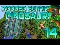Minecraft: Modded Dinosaur Survival Let's Play w/Mitch! Ep. 14 - TRAP THEM IN!