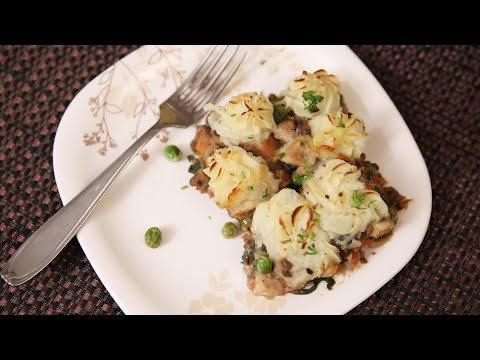Shepherd's Pie | Vegetarian Pie – Christmas Special Recipe | Ruchi's Kitchen
