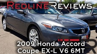 2009 Honda Accord Coupe EX-L V6 6MT Walkaround, Review, Test Drive