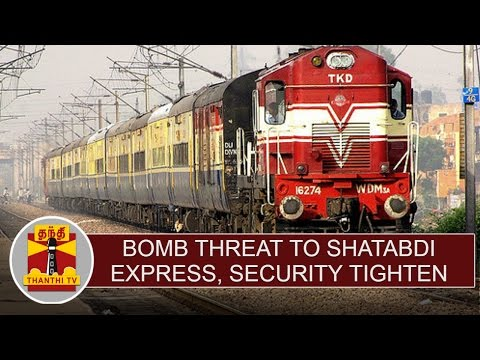 Bomb-threat-to-Shatabdi-Express-Security-tighten-in-railway-stations--Thanthi-TV
