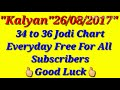 """""""26/08/2017"""" Kalyan Everyday Free 34 to 36 Jodi Chart For All Subscribers"""""""