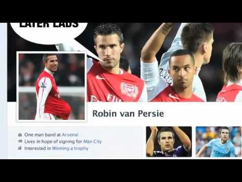 Parodie du profil Facebook de Robin Van Persie
