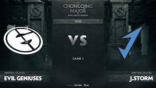 Evil Geniuses vs J.Storm, Game 1, NA Qualifiers The Chongqing Major