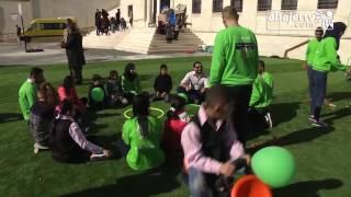 إفتتاح صالة الالعاب الرياضية ضمن مبادرة أمواج فرح في جمعية قاقون الخيرية