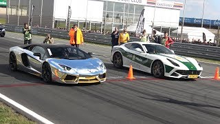 Video Lamborghini Aventador LP700 vs Ferrari F12 berlinetta MP3, 3GP, MP4, WEBM, AVI, FLV Maret 2019