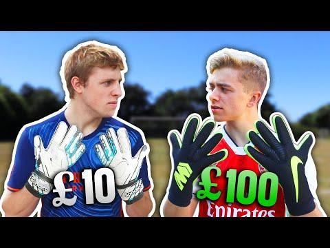 £10 Goalie Gloves Vs. £100 Pro Goalie Gloves | ft. W2S
