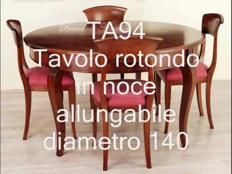 Tavoli rotondi e ovali allungabili