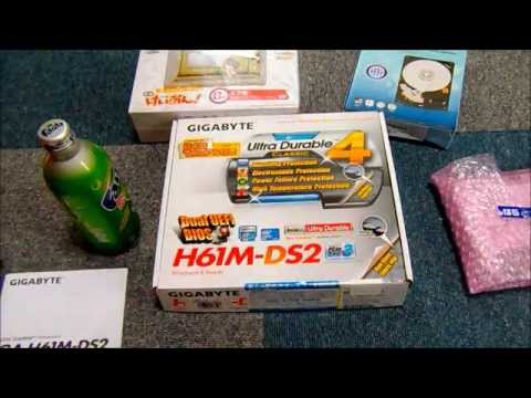 GiGABYTE GA-H61M-DS2 開封 (видео)
