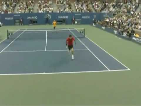 Federer's shot of the century.