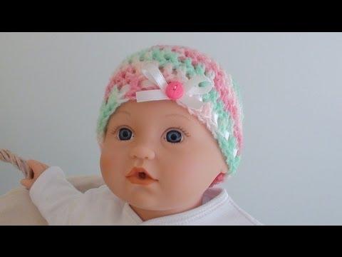 Crochet Baby Beanie - Newborn to 12 Months Old Sizes