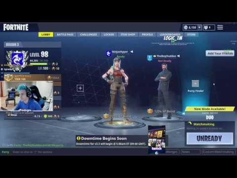 Ninja Plays WIth Drake Live On Twitch!