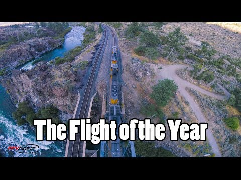 Drone video of the year - Doing tricks with a Train