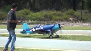 Big RC Corsair flight & crash