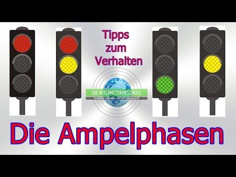Die Ampelphasen Tipps - Verhalten- Vorfahrt - Ampel rot - gelb - grün - Fahrstunde