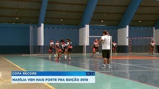 Equipe de Marília se prepara para a Copa Record de Futsal Feminino