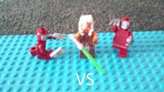 Batman and Robin face off against Ashoka and the kabuki twins who will win the bat or a big bad Jedi