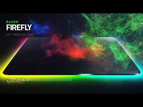 Razer Firefly Hard Gaming Mouse Mat - Chroma Lighting with 16.8 million color options (RZ02-01350100-R3M1)