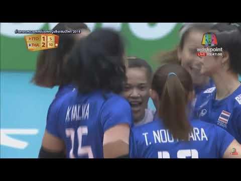ปู มลิกา เจ้าแม่แห่งการเสิร์ฟ ไทย Vs ตรินิแดด แอนด์ โตเบโก วอลเลย์บอลหญิงชิงแชมป์โลก 2018