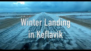Keflavik Iceland  city pictures gallery : Winter landing in Keflavik Iceland