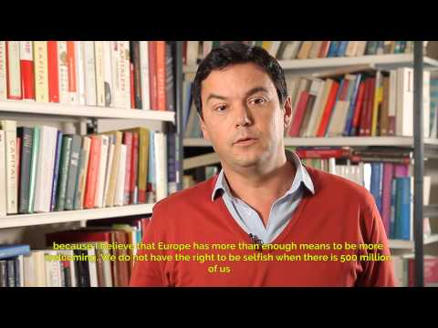 Support video of Thomas Piketty for SOS MEDITERRANEE English subtitles