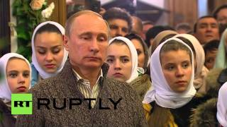 Voronezh Russia  City pictures : Russia: Putin attends Orthodox Christmas Eve Mass in Voronezh