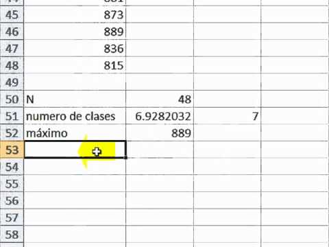 tabla de intervalos utilizando excel.wmv