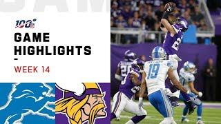 Lions vs. Vikings Week 14 Highlights | NFL 2019