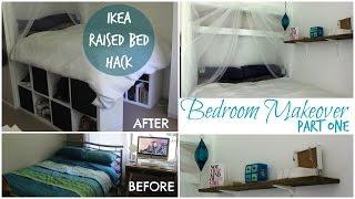 DIY IKEA PLATFORM BED made from Kallax/Expedit bookcase!    Chelsea Mason