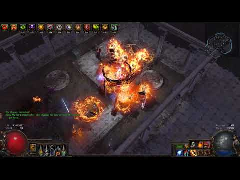 [Path of Exile] 3.0 HSC Ngamahu's Flame Raider - Shaper Kill (Molten Strike/Cyclone)
