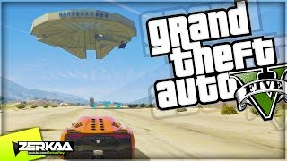 HUGE MILLENIUM FALCON | GTA 5 Funny Moments | E623 (GTA 5 PS4)