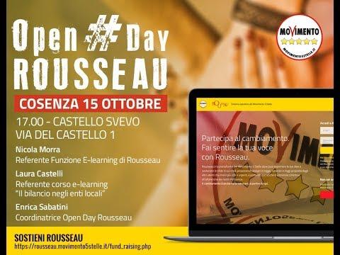 Morra (M5Stelle) porta a Cosenza l'Open day Rousseau: piattaforma informatica per i cittadini