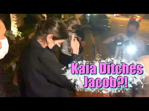 Did Kaia Gerber Ditch Jacob Elordi In The Middle Of Their Dinner Date?