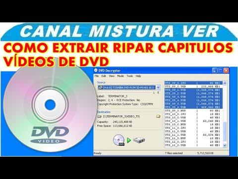 Como ripar extrai capitulos videos de um dvd
