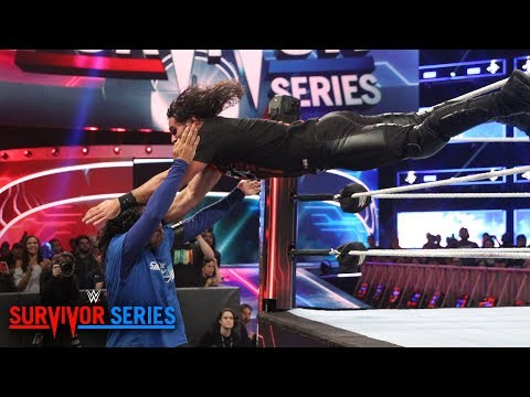 Download Seth Rollins throttles Shinsuke Nakamura with 3 dives in a row: Survivor Series 2018 (WWE Network) HD Mp4 3GP Video and MP3
