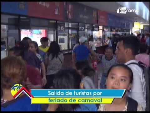 Salida de turistas por feriado de carnaval