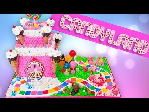 Candyland Gingerbread Castle Cake (Candy Land Gingerbread House)