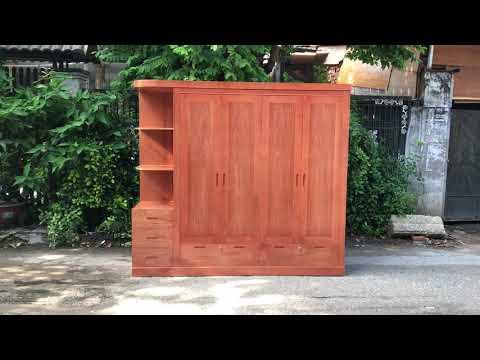 Tủ áo 4 cánh gỗ Xoan Đào