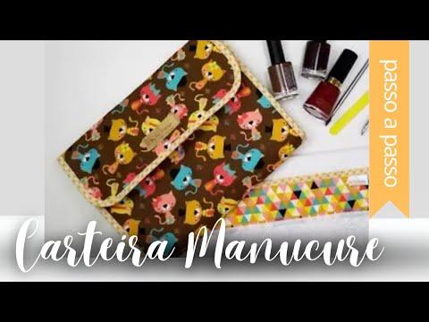 DIY::: Carteira Kit de Manicure - By Fê Atelier (видео)