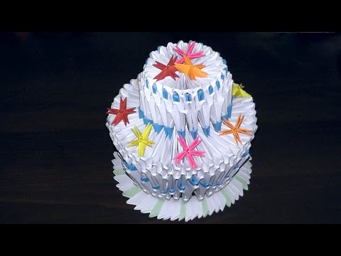 Как сделать пирожное из модулей