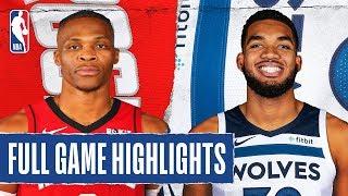 ROCKETS at TIMBERWOLVES | FULL GAME HIGHLIGHTS | January 24, 2020 by NBA