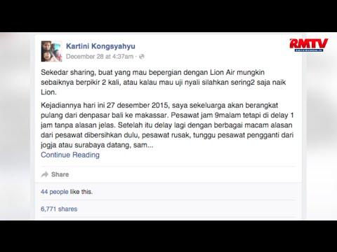 Pesawat Delay dan Rusak, Penumpang Lion Air Curhat di Facebook