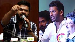 Vishal Answer for Simbu – Real Fight – Nadigar Sangam Election Issue Kollywood News 09/10/2015 Tamil Cinema Online