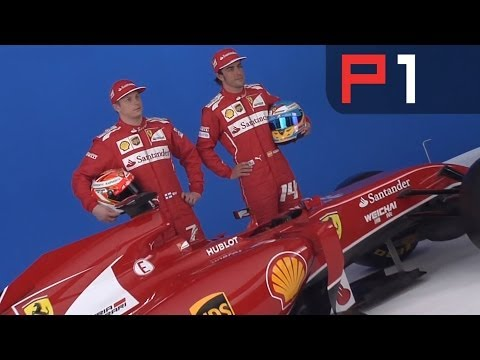 Fernando Alonso & new Ferrari F14-T at 2014 car launch
