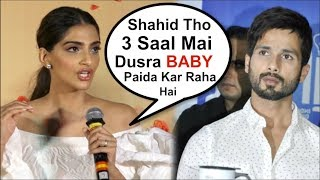 Video Sonam Kapoor Takes A DIG At Shahid Kapoor At Veere Di Wedding Trailer Launch MP3, 3GP, MP4, WEBM, AVI, FLV Mei 2018