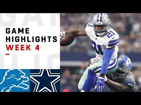 Lions vs. Cowboys Week 4 Highlights | NFL 2018