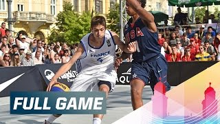 Relive the men's quarter-final of the 2015 FIBA 3x3 U18 World Championships between France and USA. Subscribe to the ...